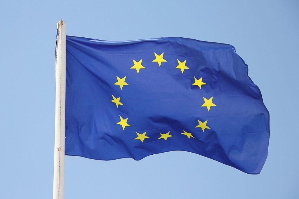 europe, flag, star