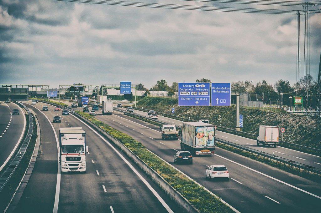 highway, road, traffic